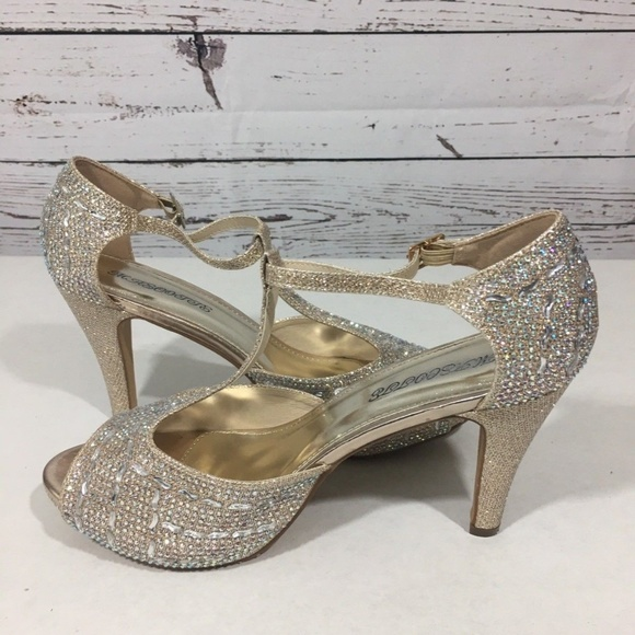 Shoes   Ariel Gold Glitter Rhinestone